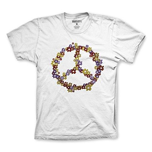 FM London Herren T-Shirt Printed Design White (Peace)