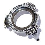 5 x Eier - Kugel Ständer Nr. 2225 silberfarbenes Metall dekorativ ca. 30 mm Durchmesser