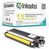 Toner Inkadoo Kompatibel für Brother HL 3040CN, MFC 9120CN, MFC 9320CW, DCP 9010CN, HL 3070CW, ersetzt TN-230 Y Yellow 1.400 Seiten