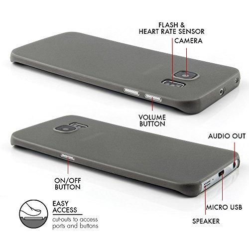 QUADOCTA Smartphone Ultra Slim Case–Custodia protettiva–tenuis–Ultra Sottile iPhone Custodia–Leggero Trasparente Case Nero solido iPhone 6/6s (4,7) grigio