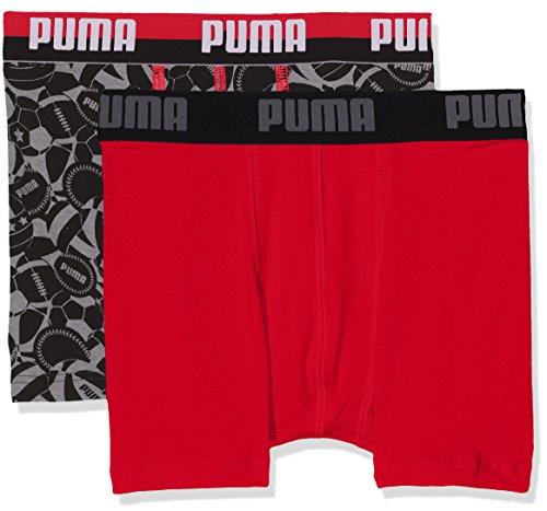 Puma Jungen Basic Sport Boxer 2p Unterhose Black/Grey