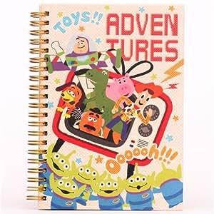 Cahier à spirale avec des personnages de Toy Story à la télé