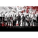 The Walking Dead fundido Sangre Art Foto firmada de Pre Póster N.O 512x 8pulgadas (A4)