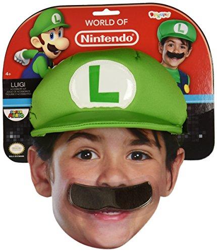 Kappe und Schnurrbart Luigi für (Zubehör Luigi Kind Kit)