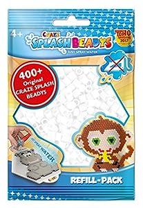 CRAZE- Cuentas de fusibles Fuse Beads Splash BEADYS Recambio Juego de Abalorios Agua Perla Blanco 11423, Color