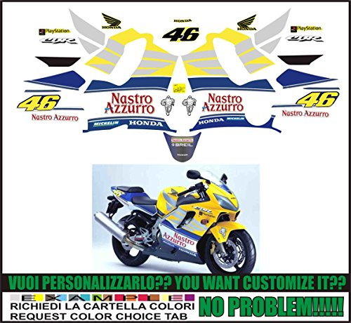 Kit adesivi decal stickers HONDA CBR 600 F 2001 VALENTINO ROSSO SPORT (ability to customize the colors)