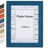 Jago - Cadre photo - format 15 x 20 cm - en MDF - bleu - TAILLE ET COULEUR AU CHOIX