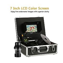 Lixada Pêche Caméra 1000TVL Portable Étanche 18 LEDs 360 Degrés Rotation Caméra Chercheur de Poisson 7 Pouces LCD Moniteur 20 m/50 m/100 m Câble