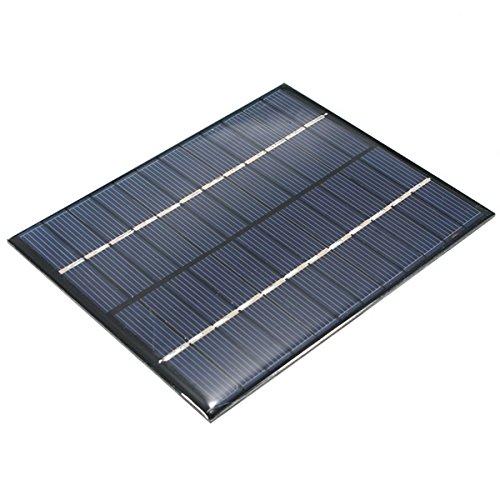 el panel solar de 12V 2W Alta tasa de conversión, rendimiento de alta eficiencia Efecto de luz débil excelente Conveniente para cargar el teléfono móvil y las pequeñas baterías de la c.c Construya sus modelos accionados DIY, exhibición solar, luz sol...