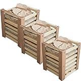 KROLLMANN Grillanzündkamin aus Holz inklusive Briketts - selbstzündende Grillkohle