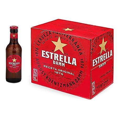 Estrella Damm Cerveza Mediterr nea Paquete de 12 botellas x 250 ml Total 3000 ml
