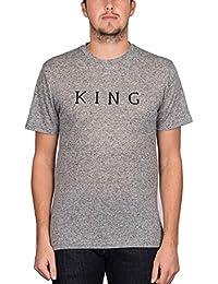 King 'Staple Linear' Tee. Grey Heather.