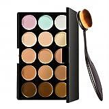 #7: Electomania 15 Colors Contour Face Cream Makeup Concealer Palette + Make up Brush