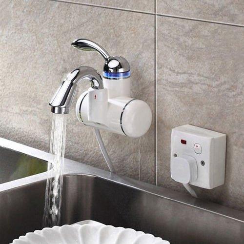 UHM piatti caldi e freddi veloce rubinetto elettrico riscaldamento veloce montato a parete rubinetti acqua di rubinetto