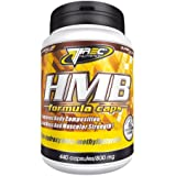 Trec Nutrition HMB Formula 180 caps -- 3000 mg per daily serving -- Muscle Growth / Strength / Protects Muscle Wasting