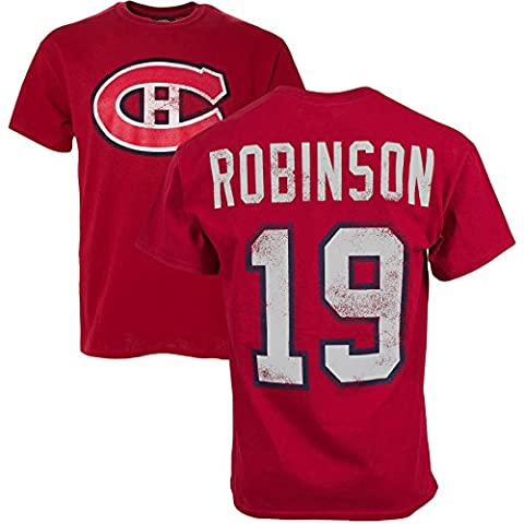 Montreal Canadiens Larry Robinson Vintage NHL Alumni T-Shirt (Red) - Size Small