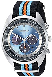 Seiko Men's 'RECRAFT Series' Quartz Stainless Steel and Nylon Dress Watch, Color:Black (Model: SSC667) (B0792MBNGJ) | Amazon Products