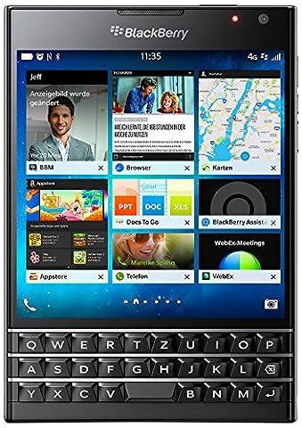BlackBerry Passport Smartphone débloqué 4G (Ecran : 4.5 pouces - 32 Go - BlackBerry OS 10.3) Noir,