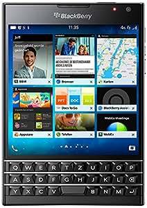BlackBerry Passport Smartphone (11,4 cm (4,5 Zoll) Display, Nano-SIM, QWERTZ, 32GB interner Speicher, 13 Megapixel Kamera, Blackberry OS 10.3) schwarz