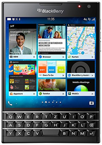 BlackBerry Passport - Smartphone libre Blackberry (pantalla 4.5', cámara 13 Mp, 32 GB, Quad-Core 2.26 GHz, 3 GB RAM,...