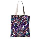 Black Temptation Bunte Muster-EinkaufsTaschen-Tasche Chinesische ethnische Retro Art-Segeltuch-Einkaufstasche # 20