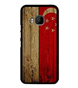 Fuson Premium 2D Back Case Cover Flag design With white Background Degined For HTC One M9::HTC M9::HTC One Hima