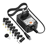 Outtag 24W Chargeur Universel AC Adaptateur Alimentation 3V 4.5V 5V 6V 7.5V 9V 12V 8 Fiches Embouts pour Appareil numérique/Routeurs/Raspberry/Radio/Haut-Parleur/LED Strip/USB Hubs/Chargeur Portable
