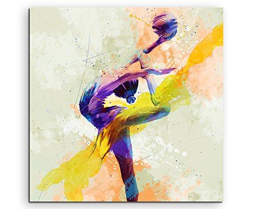 Turnen Ball 60x60cm Wandbild SPORTBILD Aquarell Art tolle Farben von Paul Sinus