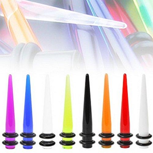 Piercing Ecarteurs en acrylique avec O rings Taille 12 mm Blanc