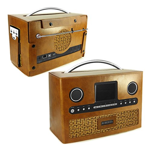 Tuff-Luv Roberts DAB-Radio-Stream 93i Retro Vintage Ledertasche - Braun (Tuff-radio)