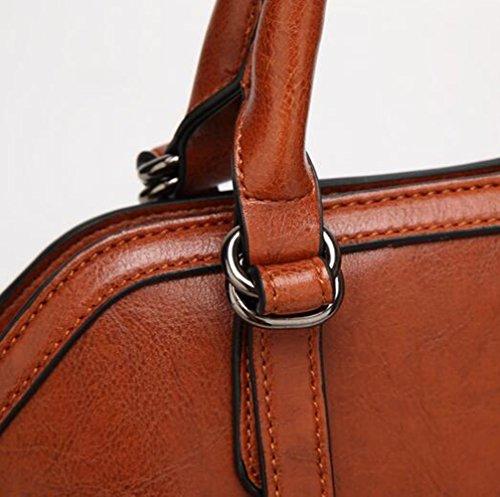 Meiliyh Fashion Women Pu Leather Borse New Fashion Shell Ladies Borsa A Tracolla Wine Red
