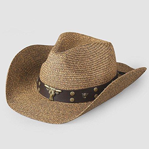 Sommer Western Cowboy Hut Sommer Mode Jugend Jazz Strohhut Faltung Sonnenschirm Hut (100 Jahre Alter Mann Kostüm)