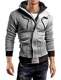 Grin&Bear double col, veste sweat à capuche sweat shirt homme, GEC407