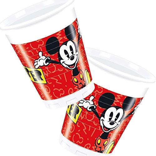 8 Becher * MICKEY MOUSE - SUPER COOL * von Disney für Kindergeburtstag oder Mottoparty // Kinder Geburtstag Motto Party Micky Maus Partybecher Cups (Party Geburtstag Freunde Und Supplies Maus Micky)