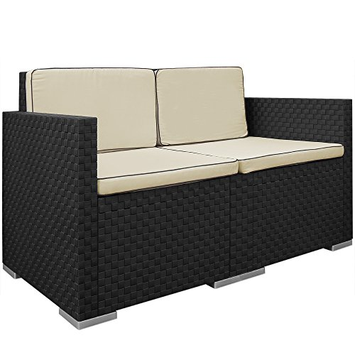 Lounge Set in Rattan-Optik Sitzgruppe Sitzgarnitur Gartengarnitur Gartenset - 2