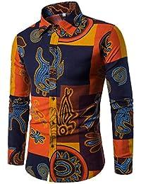 ITISME HOMME TOP Chemise Automne Hiver Populaire à Manches Longues Couture  Occasionnels pour Hommes Slim Fit 50da10d000d5