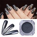 Coulorbuttons 1box specchio nero nail polvere Shining manicure nail art pigmento polveri glitter 0.5g