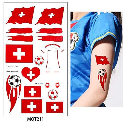 gn 2 Tabelle 2018 Fußball Tattoo Aufkleber Aufkleber Stakes Deutsch Russland Temporäre Diy Körper Tattoo (2 Pack) MOT211 Swezelan ()