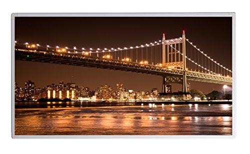 IH Engineering BV Bild Infrarotheizung (130W/300W/450W/600W/800W/1000W) mit 5 Jahren Garantie (1000, New York Brooklyn Bridge Bei Nacht)