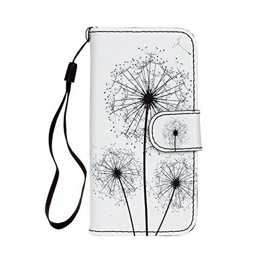 MOONCASE iPhone 5C Coque, Modèle Case Portefeuille [Porte-cartes] Housse en Cuir Etui à rabat avec Béquille pour iPhone 5C -S01 S12