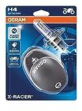 Osram 64193XR-02B X-RACER H4 Halogen Motorrad-Scheinwerferlampe, Doppelblister (2 Stück mit...