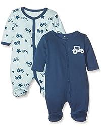 NAME IT Baby-Jungen Schlafstrampler, 2er Pack
