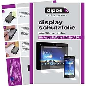 dipos Asus Padfone Infinity A86 Schutzfolie (je 3 Stück für das Smartphone und das Tablet) - kristallklare Premium Folie Crystalclear