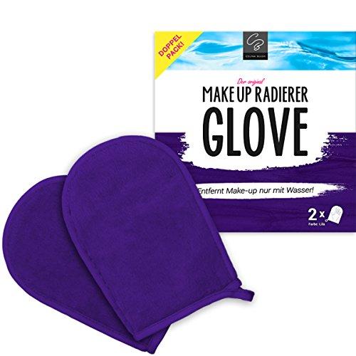 Double-Pack GLOVE démaquillante exclusive de Celina Blush   démaquille à l'eau   vous évite l'utilisation de produits chimiques   nettoie la peau en douceur et en profondeur   2 Gants démaquillage