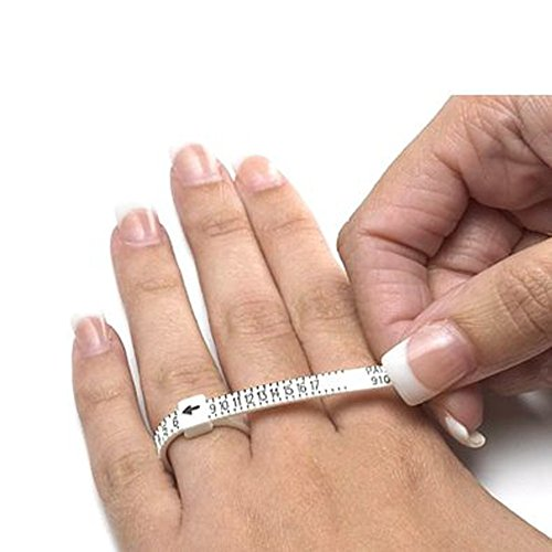 MULTISIZER Ring Gauge (1–17USA Größen)/Multisizer sparsam Ringmaß für Herren und Damen/Karo Ring Größe @ Home