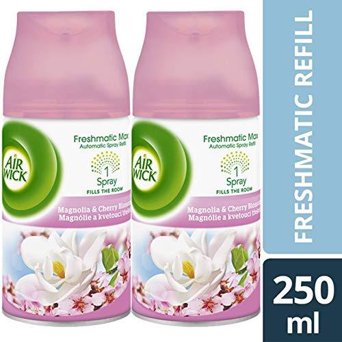 2 Magnolia Blossom (2 x Airwick Magnolia & Cherry Blossom Freshmatic MAx Nachfüller, 250 ml)