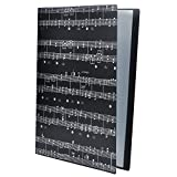 Cartella portadocumenti in formato A4 con 40 tasche Musical Notation File Folder -Black