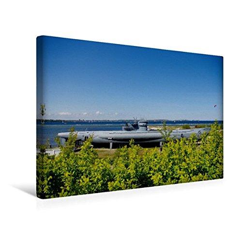 Calvendo Premium Textil-Leinwand 45 x 30 cm Quer-Format U-Boot von Laboe   Wandbild, HD-Bild auf Keilrahmen, Fertigbild auf hochwertigem Vlies, Leinwanddruck von Tanja Riedel Natur Natur