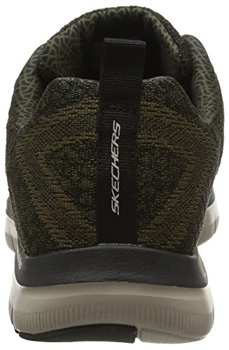 Skechers Flex Advantage 2.0-Golden Point, Baskets Basses Homme Vert (Olive Green)
