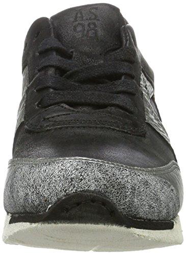 A.S.98 Damen Phoenix Sneaker Schwarz (NERO/ARGENTO/NERO/ARGENTO/NERO/NERO)